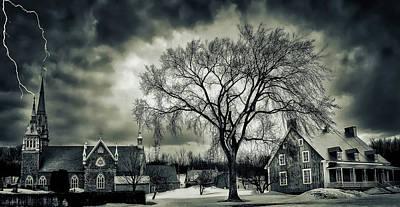 Photograph - Winter Lightning  by Patrice Audet