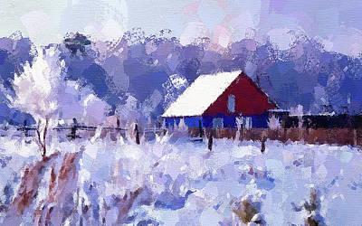 Digital Art - Winter Scene by Yury Malkov