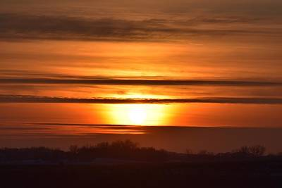 Photograph - Winter Sunset by Dacia Doroff