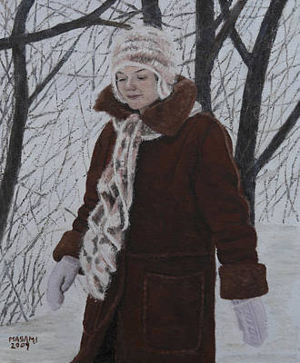 Painting - Winter Walk by Masami Iida