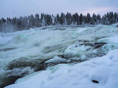 Photograph - Winter Waterfall by Tamara Sushko