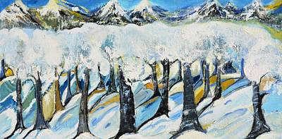 Painting - Winterland by Evelina Popilian