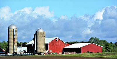 Mellow Yellow - Wisconsin Farm Scene by Karen Majkrzak