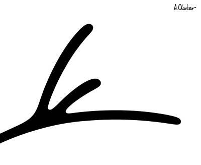 Simplicity Drawing - Woman 1 by Alexander Chubar