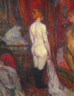 Painting - Woman Before A Mirror by Henri de Toulouse-Lautrec