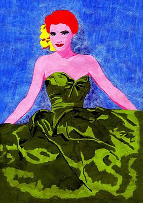 Woman Portrait Art Print by Celebrity Popart