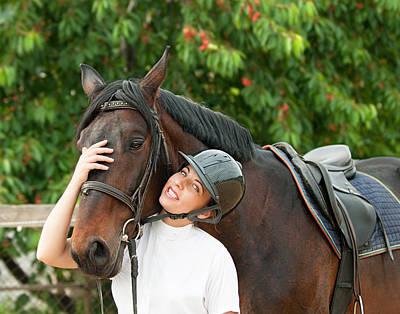 Woman Rider And Horse Art Print