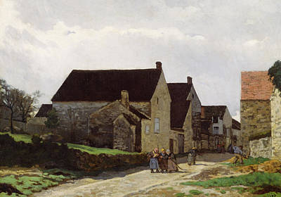 Streetscape Painting - Women Going To The Woods by Alfred Sisley