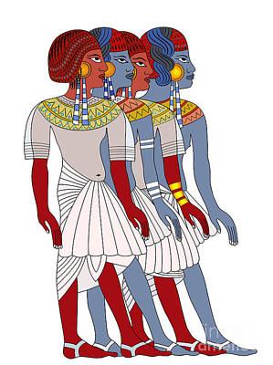 Egypt Mixed Media - Women Of Ancient Egypt by Michal Boubin