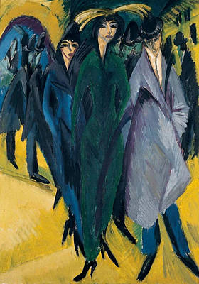 Women Painting - Women On The Street by Ernst Ludwig Kirchner