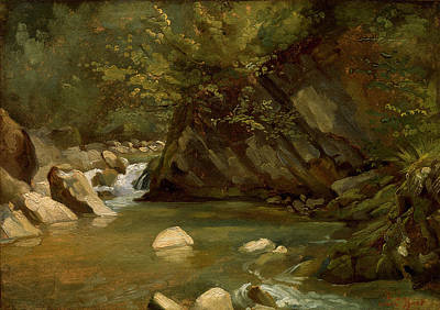 Painting - Woodland Stream by Paul Huet