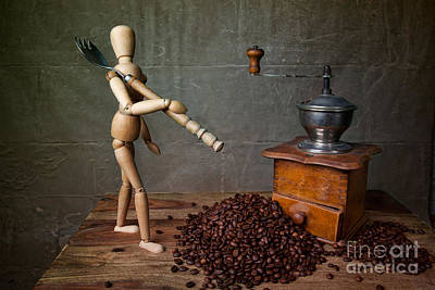 Coffee Grinder Photograph - Working The Mill by Nailia Schwarz