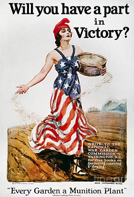 1918 Photograph - World War I: U.s. Poster by Granger