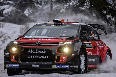 Ds3 Photograph - Wrc Rally Sweden  by Stefan Pettersson