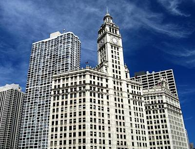Chicago Photograph - Wrigley Building by Rosemary Babikan