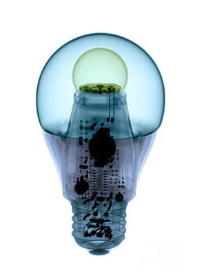 X-ray Of An Energy Efficient Light Art Print