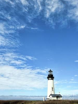 Photograph - Yaquina Head Lighthouse by Peggy Hughes
