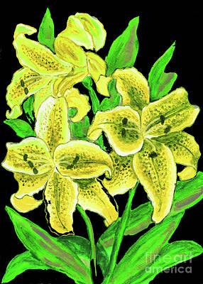 Painting - Yellow Lilies by Irina Afonskaya