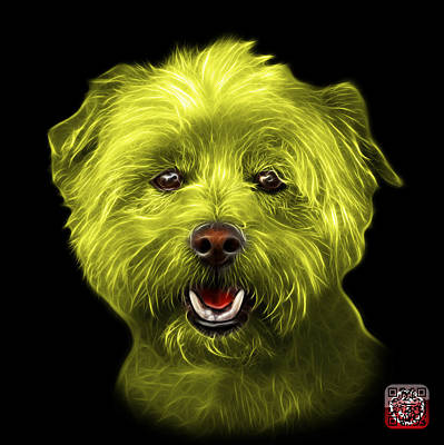 Mixed Media - Yellow West Highland Terrier Mix - 8674 - Bb by James Ahn