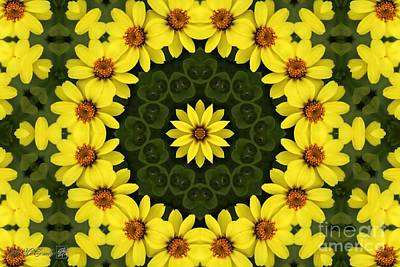Digital Art - Yellow Zahara Mandala by J McCombie