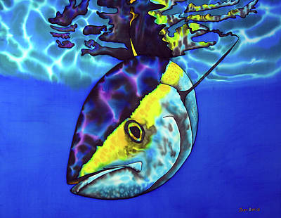 Painting - Yellowfin Tuna by Daniel Jean-Baptiste