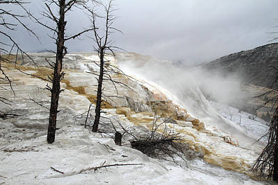Yellowstone Mammoth Hot Springs Art Print by Pierre Leclerc Photography