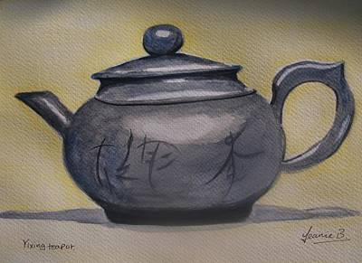 Teapot Painting - Yixing Teapot by Jean Billsdon