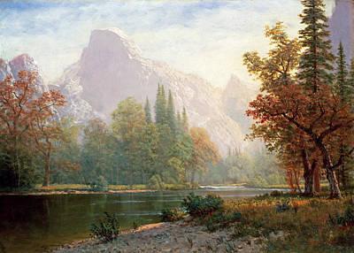 Sequoia National Park Painting - Yosemite by Albert Bierstadt