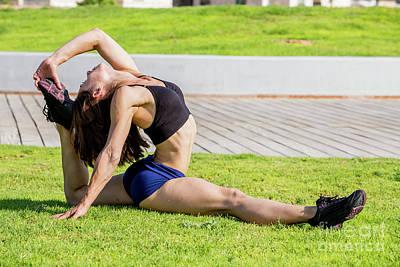 Female Bodybuilder Photograph - Young Female Bodybuilder  by Sv