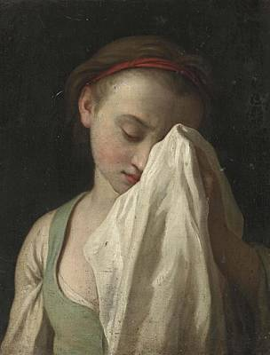 Crying Girl Painting - Young Girl Crying by Pietro Antonio