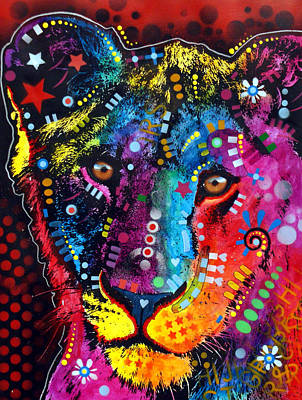Art Print featuring the painting Young Lion by Dean Russo