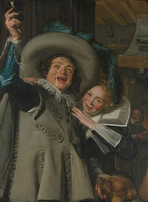 Painting - Young Man And Woman In An Inn by Frans Hals