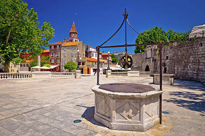 Photograph - Zadar Five Wells Square And Historic Architecture View by Brch Photography