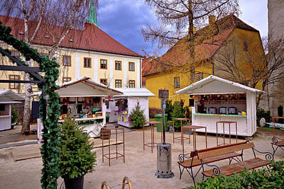 Photograph - Zagreb Upper Town Christmas Market Street View by Brch Photography