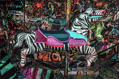 Photograph - Zebra Carousel by Michael Arend