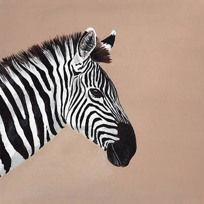 Painting - Zebra by Masha Batkova