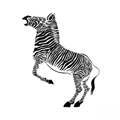 Digital Art - Zebra by Michal Boubin