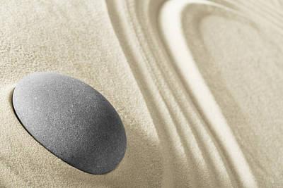 Photograph - Zen Garden - Meditation Stone by Dirk Ercken