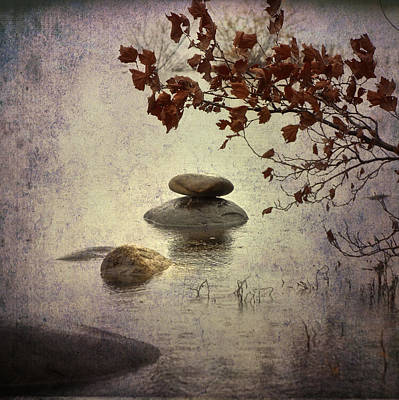 Alone Photograph - Zen Stones by Joana Kruse