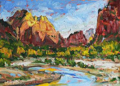 Painting - Zion Canyon  by Owen Hunt