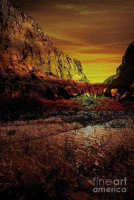 Mixed Media - Zion National Park Utah by Bob Pardue