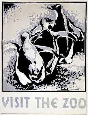 Painting - Zoo Poster by Granger