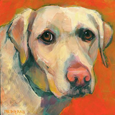 Gold Labrador Painting - English Labrador by Mary Medrano