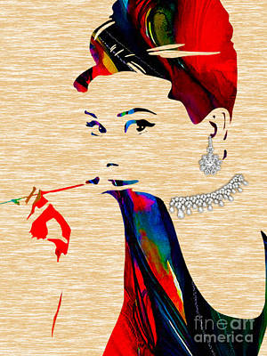 Star Mixed Media - Audrey Hepburn Collection by Marvin Blaine