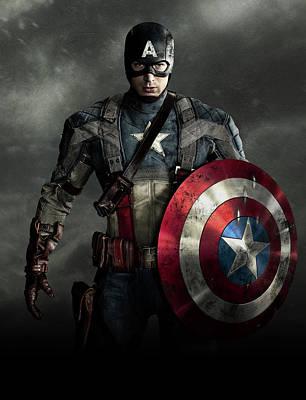 Fictional Digital Art - Captain America Civil War 2016 by Unknown