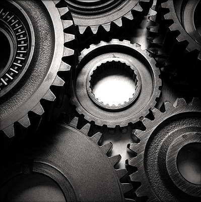 Machine Photograph - Cogs  by Les Cunliffe