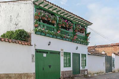 Digital Art - Colombia Villa De Leyva  Street Scenes by Carol Ailles