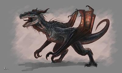 Animals Digital Art - Dragon by Maye Loeser