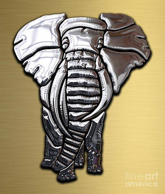 Africa Mixed Media - Elephant Collection by Marvin Blaine