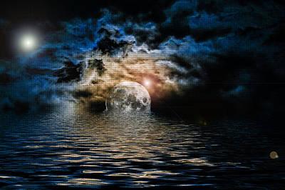 Microsoft Painting - Heavens Waves - Sri Yantra by Sir Josef - Social Critic -  Maha Art